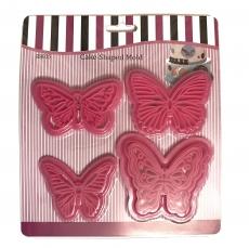 Набор выемок пластиковых для мастики Бабочки 4 шт