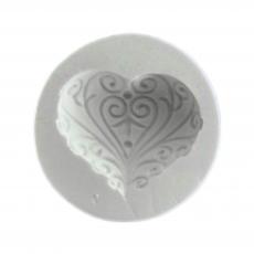 Силиконовый молд Сердце №5 8х8 см