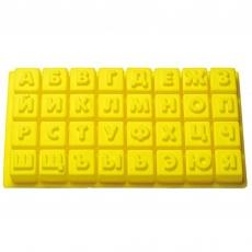Силиконовая форма Алфавит кубики 4х4 см