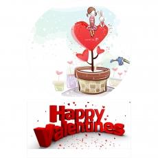 Вафельная картинка A4 День святого Валентина №18