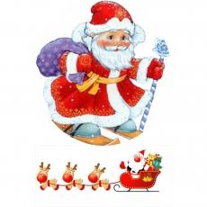 Вафельная картинка A4 Дед Мороз