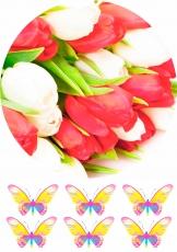 Вафельная картинка A4 Цветы