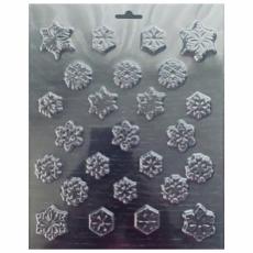 Пластиковая форма для шоколада Снежинки мелкие