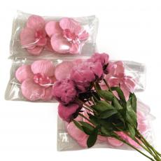 Набор Сахарные Орхидеи розовые 7 шт 4 см