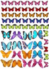 Вафельная картинка A4 Бабочки 9