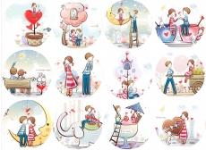Вафельная картинка A4 День святого Валентина №19