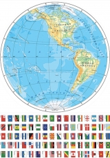 Вафельная картинка A4 Карта мира