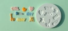 Силиконовый молд аксессуары для маленьких детей