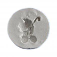 Силиконовый молд Коляска №2 3.7x3.5 см
