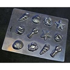 Пластиковая форма для шоколада Cake&Pie Морское ассорти 180х230 мм