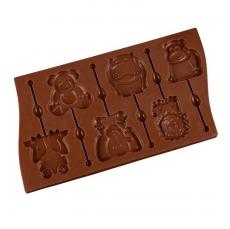 Силиконовая форма для шоколада и карамели Животные 30х16,5х1 см