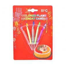 Свечи с цветным пламенем 5 шт