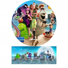 Вафельная картинка A4 Монстры на каникулах