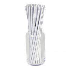 Бумажные трубочки Серебро 25 шт