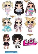 Вафельная картинка A4 L.O.L Doll №4