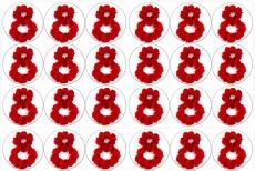 Вафельная картинка A4 8 Марта №013