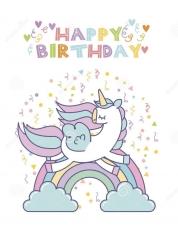 Вафельная картинка A4 С днём рождения 4