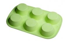 Форма силиконовая гладкая для выпечки 6 корзинок 7х4 см