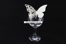 Декор на бокал бабочка
