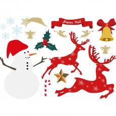 Вафельная картинка A4 Снеговик 5