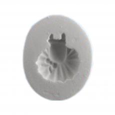 Силиконовый молд Детское платьице с бантом 4x5 см