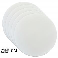 Подложка под торт круглая белая (10 шт ) 25 см