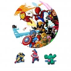 Вафельная картинка A4 Мстители