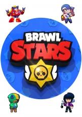 Вафельная картинка A4 BRAWL STARS №5