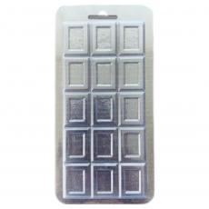 Пластиковая форма для шоколада Плитка №3 8.5х17.5 см
