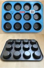 Форма для выпечки 12 кексов гладкая