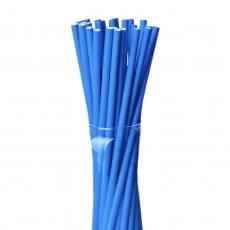Бумажные трубочки Синие 25 шт