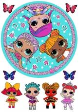 Вафельная картинка A4 L.O.L Doll №6