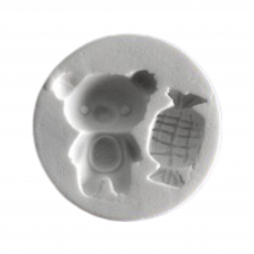 Силіконовий молд Мишка і цукерка №2 5x5 см