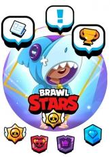 Вафельная картинка A4 BRAWL STARS №6