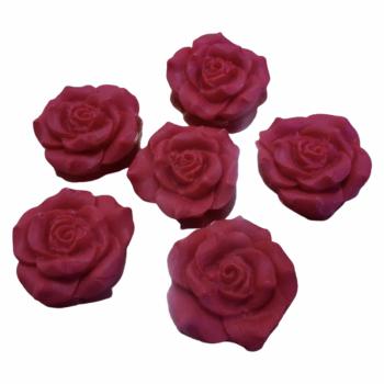 Набор Сахарные Розы красные 6 шт 3.5 см