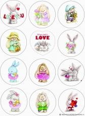 Вафельная картинка A4 День святого Валентина №33
