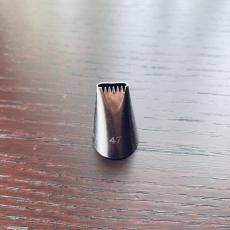 Насадка с зубчиками №47 0.9х2.9х1.8 см
