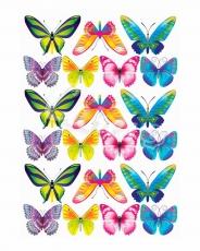 Вафельная картинка A4 Бабочки 20