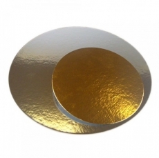 Подложка под торт Cake&Pie Двусторонняя круглая 18 см золото/серебро