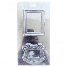 Пластиковая форма для шоколада Две рамки прямоугольные
