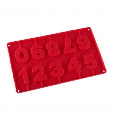 Форма силиконовая для кейк-попсов Цифры на палочках 28.5х16.5