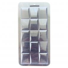 Пластиковая форма для шоколада Плитка №1 8.5х17.5 см