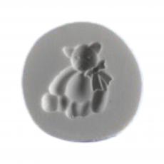 Силиконовый молд мишка маленький с бантом 1