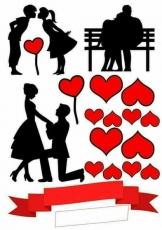 Вафельная картинка A4 Любовь 2021 №13