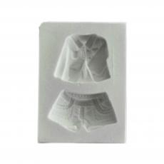 Силиконовый молд Пиджак и шорты 5x7 см