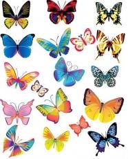 Вафельная картинка A4 Бабочки 23