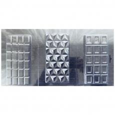 Форма пластиковая для шоколада Три Плитки №3 18х34.5 см