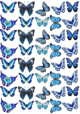 Вафельная картинка A4 Бабочки 21