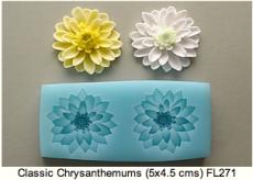 Силиконовый молд цветок хризантема