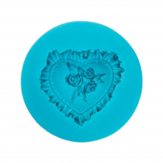 Силиконовый молд Сердце с розами d-6 см